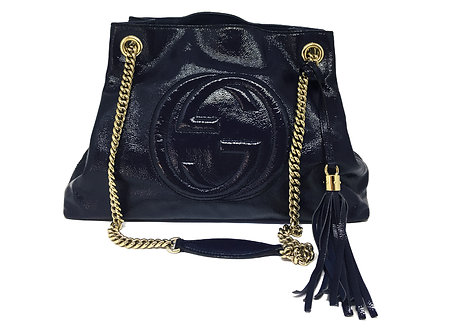 Gucci Soho Shoulder Chain Verniz
