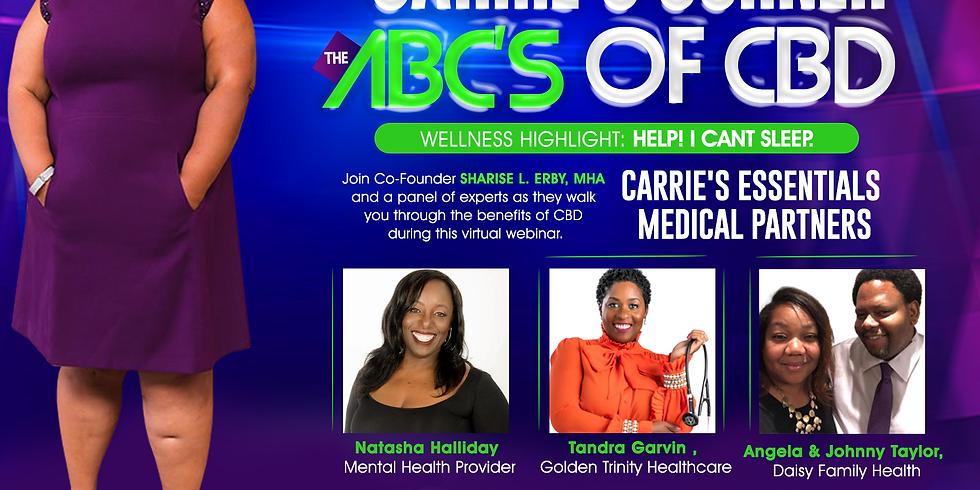 Carrie's Corner ABC's of CBD - Sleep is key to wellness