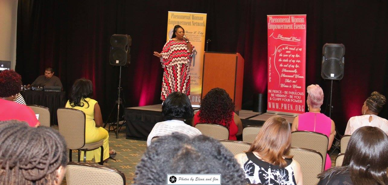 PWEC 2017 Sharise speaking from stage