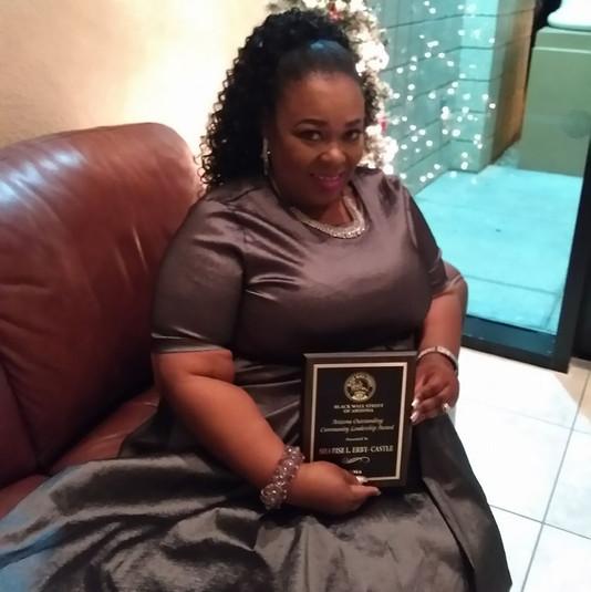 Sharise and award BWS.jpg