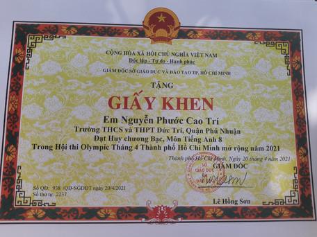 giải bạc tiếng Anh_Nguyễn Phước