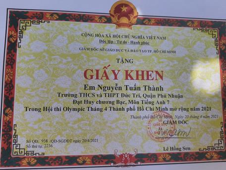 giải bạc tiếng Anh_Nguyễn Tuấn T
