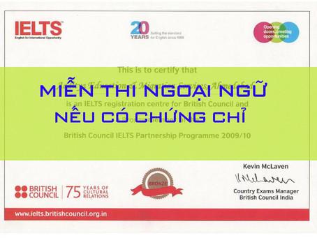 Những trường hợp nào sẽ được miễn thi Ngoại ngữ tốt nghiệp THPT 2020?