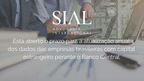 Está aberto o prazo para a atualização anual dos dados das empresas brasileiras com capital estrange