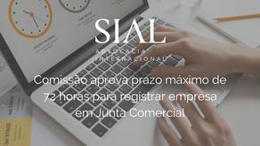 Comissão aprova prazo máximo de 72 horas para registrar empresa em Junta Comercial