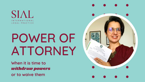 Power of Attorney: when it is time to withdraw powers or to waive them