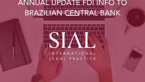 Closing deadline for annual update FDI info before Brazilian Central Bank