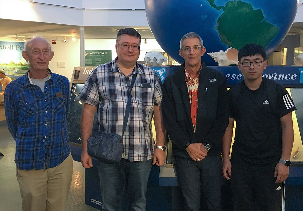 From left, Eugene Coan, Konstantin Lutaenko, José H. Leal, and Junlong Zhang