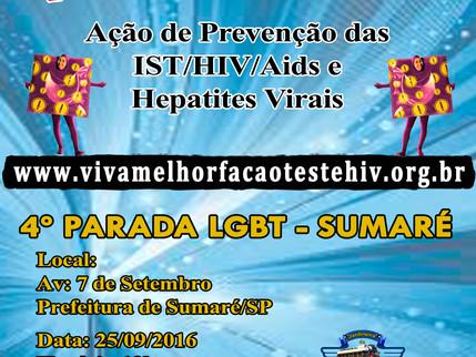 Projeto VIVA MELHOR realiza ação preventiva na 4ª Parada do Orgulho LGBT de Sumaré