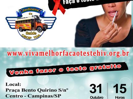 """31/10/2015 - Ação do """"VIVA MELHOR – FAÇA O TESTE DE HIV/AIDS"""""""