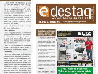 Revista Edestaq Divulgou  Campanha das Massas 2014