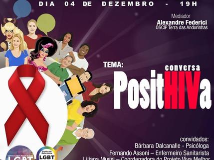 04/12/2018 - Roda Conversa PositHIVa. Vem com a gente!