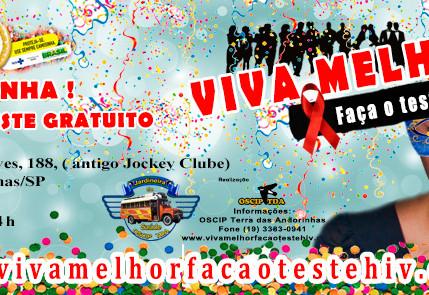 """Projeto """"VIVA MELHOR"""" realizará testagem de HIV em Campinas 05/02/2016"""