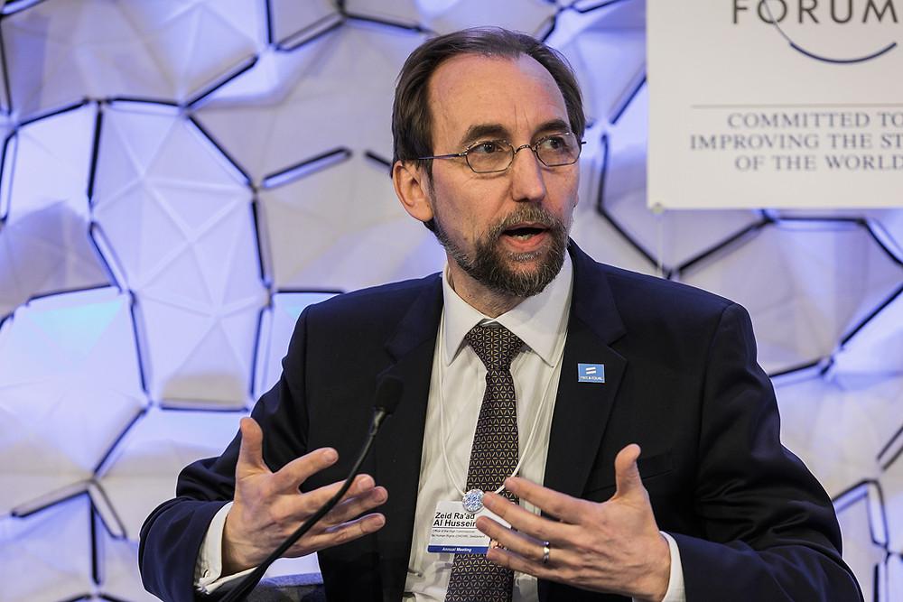 Zeid Ra'ad Al Hussein em Davos durante o Fórum Econômico Mundial. Foto: Fórum Econômico Mundial/Jakob Polacsek
