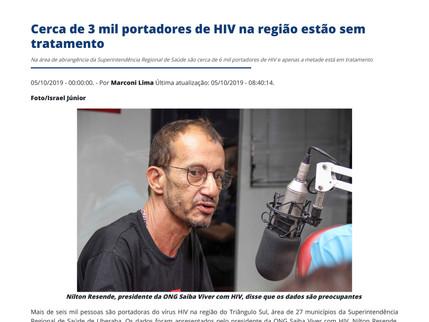 Cerca de 3 mil portadores de HIV na região estão sem tratamento (JM Online Uberaba/MG)