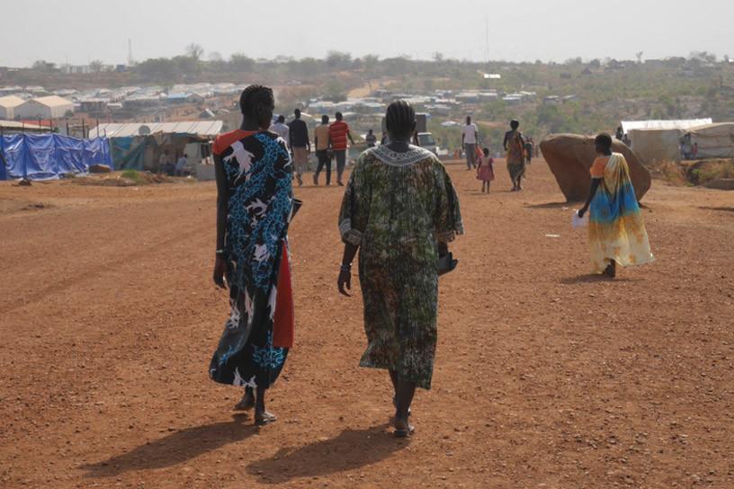 Em Malakal, no Sudão do Sul, uma rede de apoio ao HIV, com cerca de 150 membros, se reúne regularmente para falar sobre os desafios enfrentados no acesso a medicamentos antirretrovirais. Foto: UNAIDS