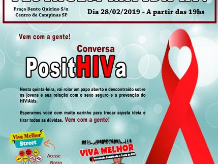 28/02/2019 – VIVA MELHOR realizará teste de HIV/Aids na Praça Bento Quirino