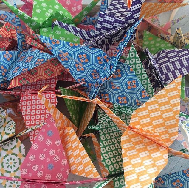 Hanging Paper Cranes