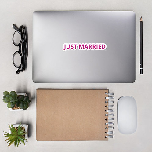 Just Married Bubble-free stickers