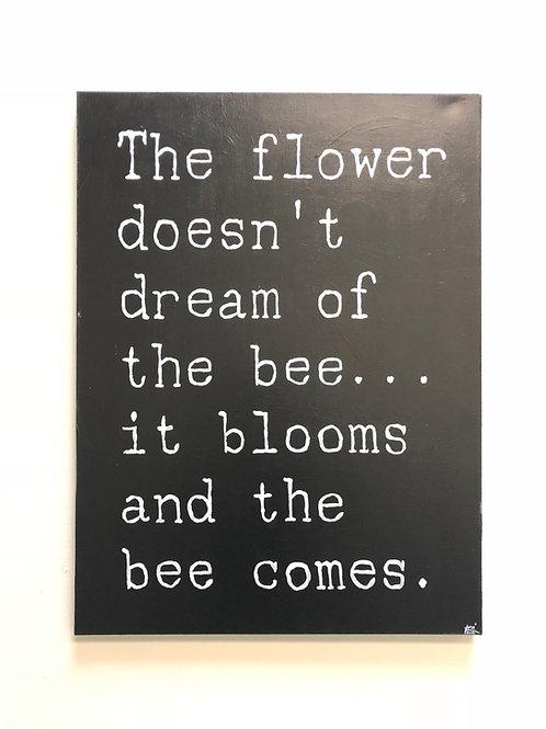 SOLD Flowers & Bees (original)