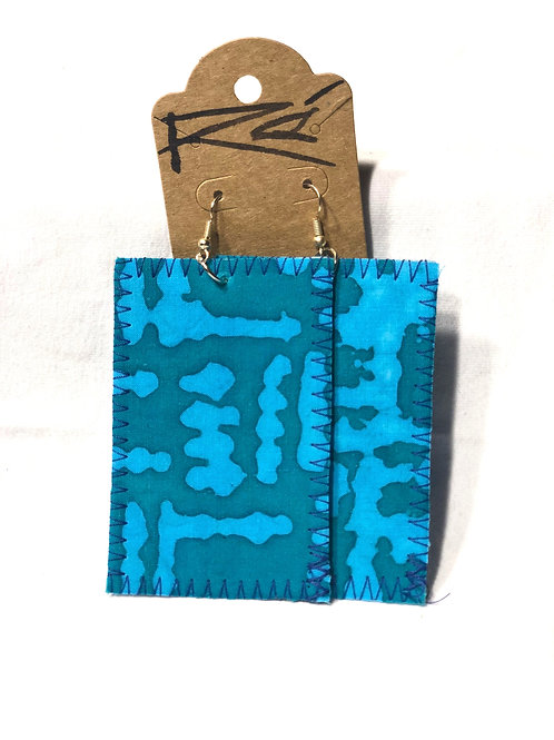 Blue Mono Batik (earrings)