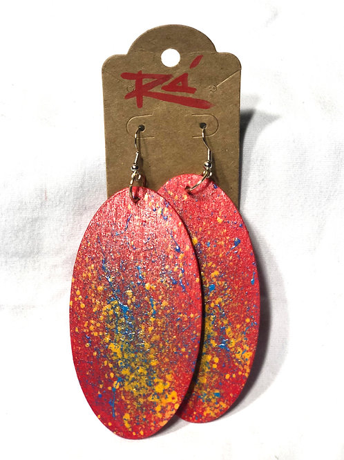 Red Splatter (earrings)