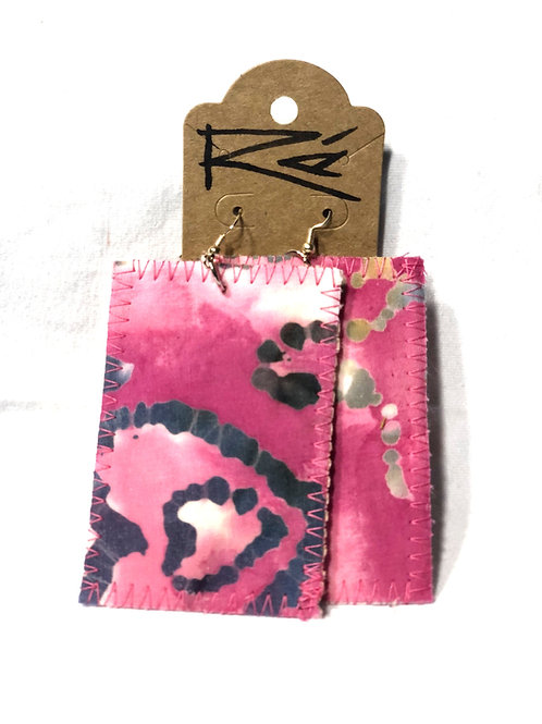 Pink Batik (earrings)