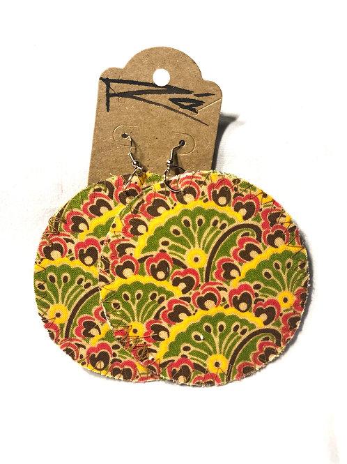 Earthy Flora Circle (earrings)
