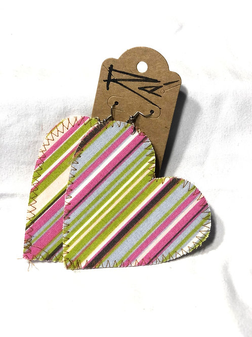 Striped Heart (earrings)