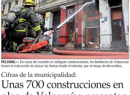 UNAS 700 CONSTRUCCIONES EN PLAN DE VALPARAÍSO PRESENTAN DAÑOS CON RIESGO DE COLAPSO