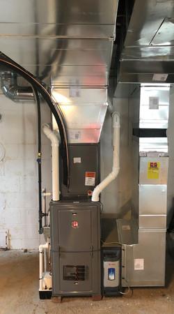 Rheem Residential Furance Install