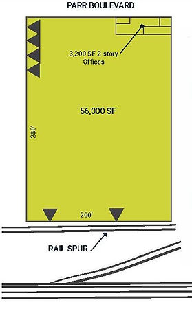 56,000 SF Rail Served Warehouse