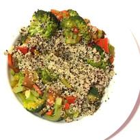Revuelto de Brócoli, Verduras y Quinoa