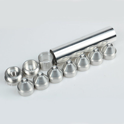 6 Inch .995 ID Tube Kit with End Caps & Cups