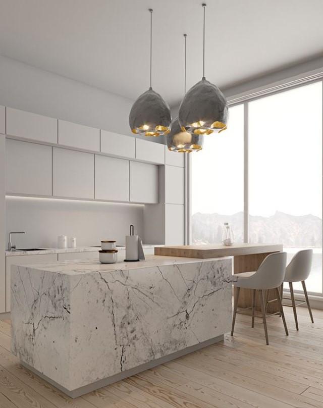 Stunning but simple kitchen pendant lights