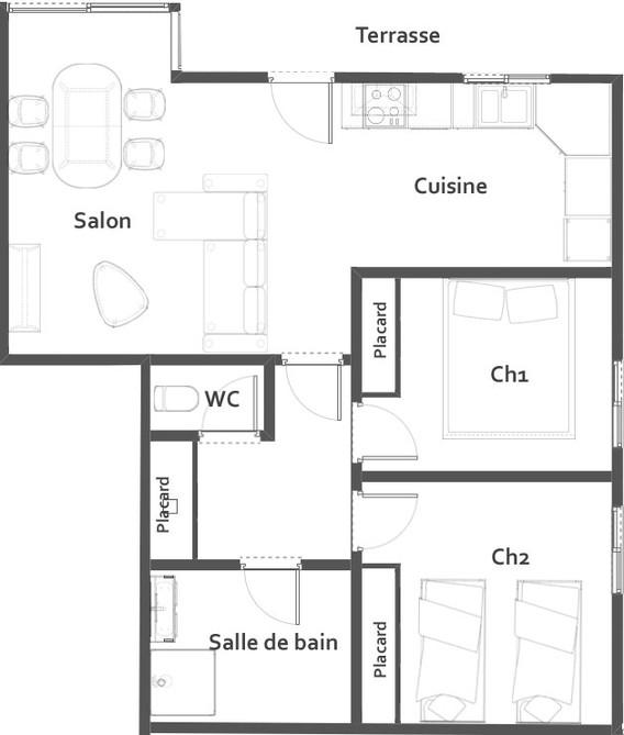 Plan détaillé de la location