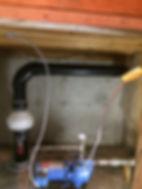 Radon mitigation system in crawlspace crowsnest pass alberta
