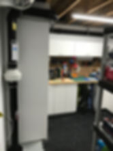 Standard radon mitigation system in workshop calgary