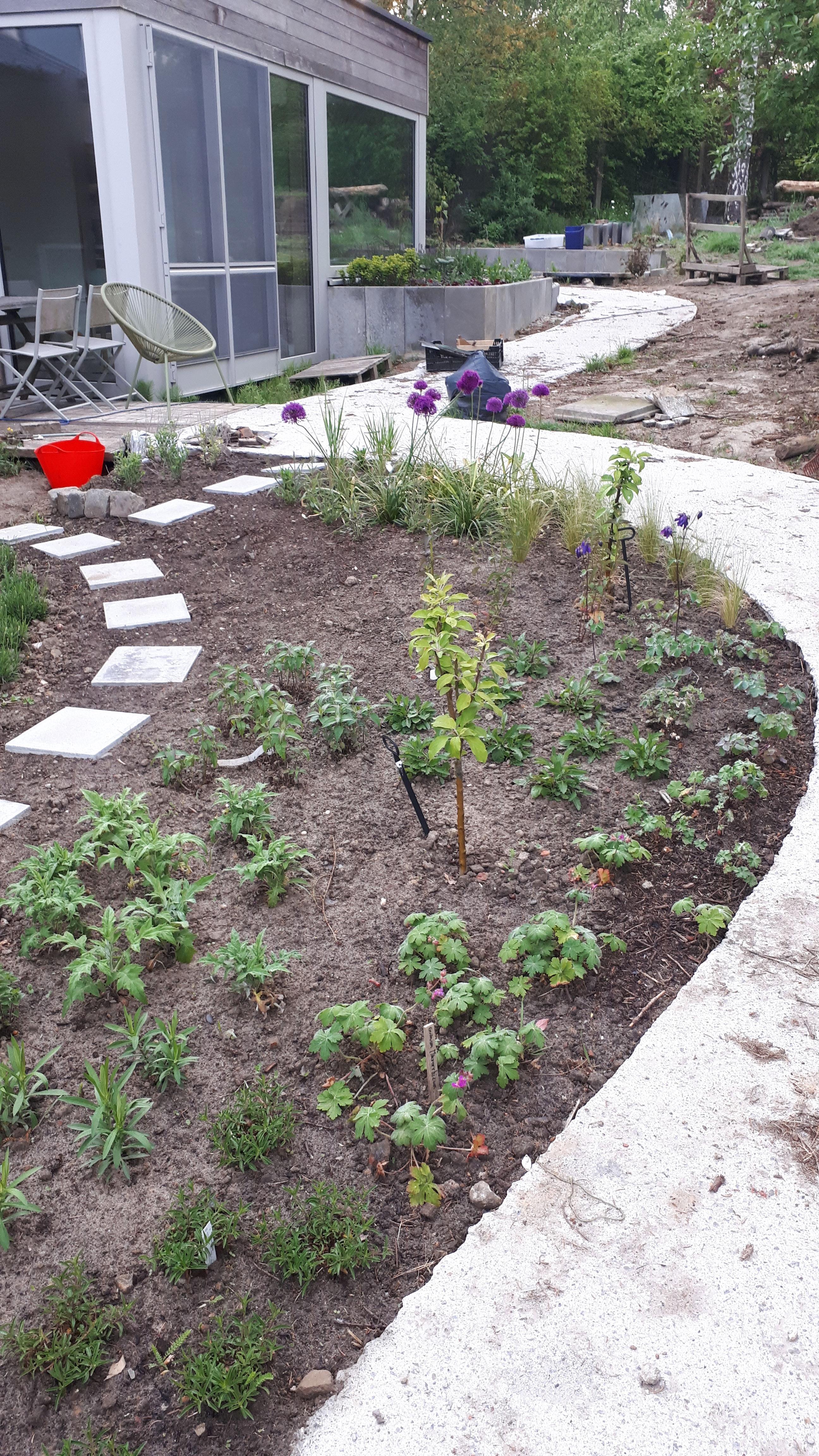 tuinpad tot rolstoeltoegankelijk achterterras