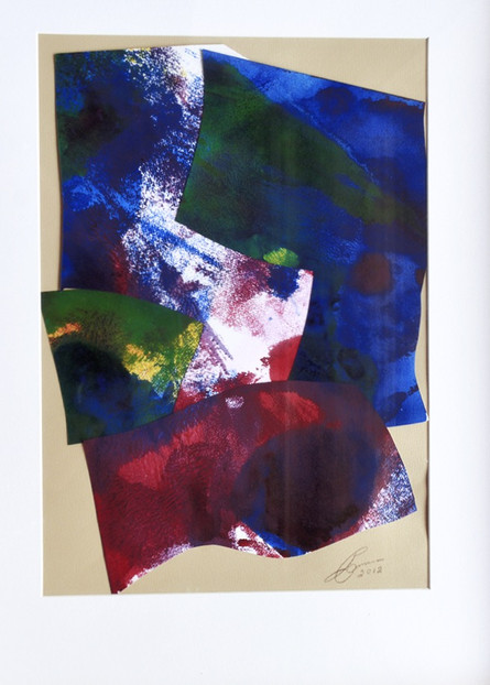 LOT 33: Untitled abstract colour and form composition