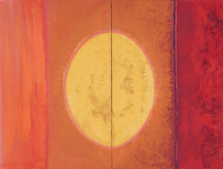 1988 Yellow-Oval_diptych97x74cms.-_1998