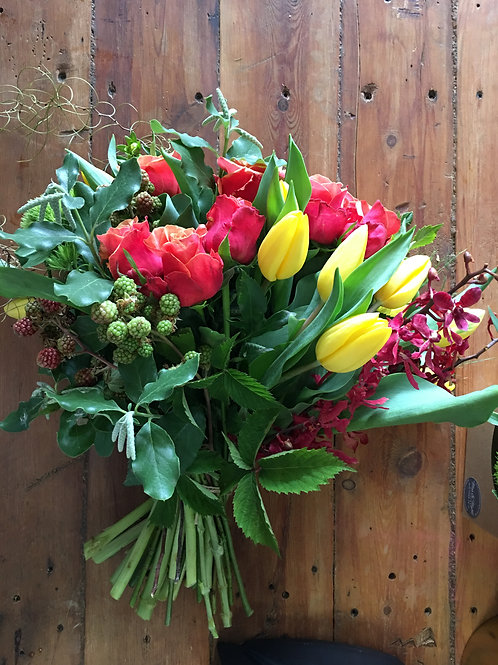 Tulips and roses