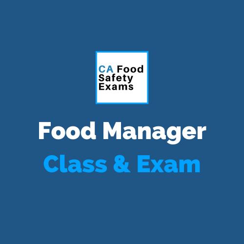Food Manager Class & Exam in Santa Cruz