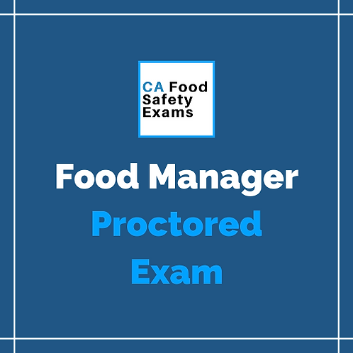 ServSafe Food Manager Online Proctored Exam