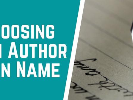 Choosing a Good Author Pen Name