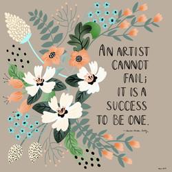 Artists Cant Fail
