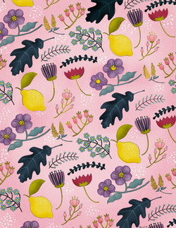 Floral with Lemons