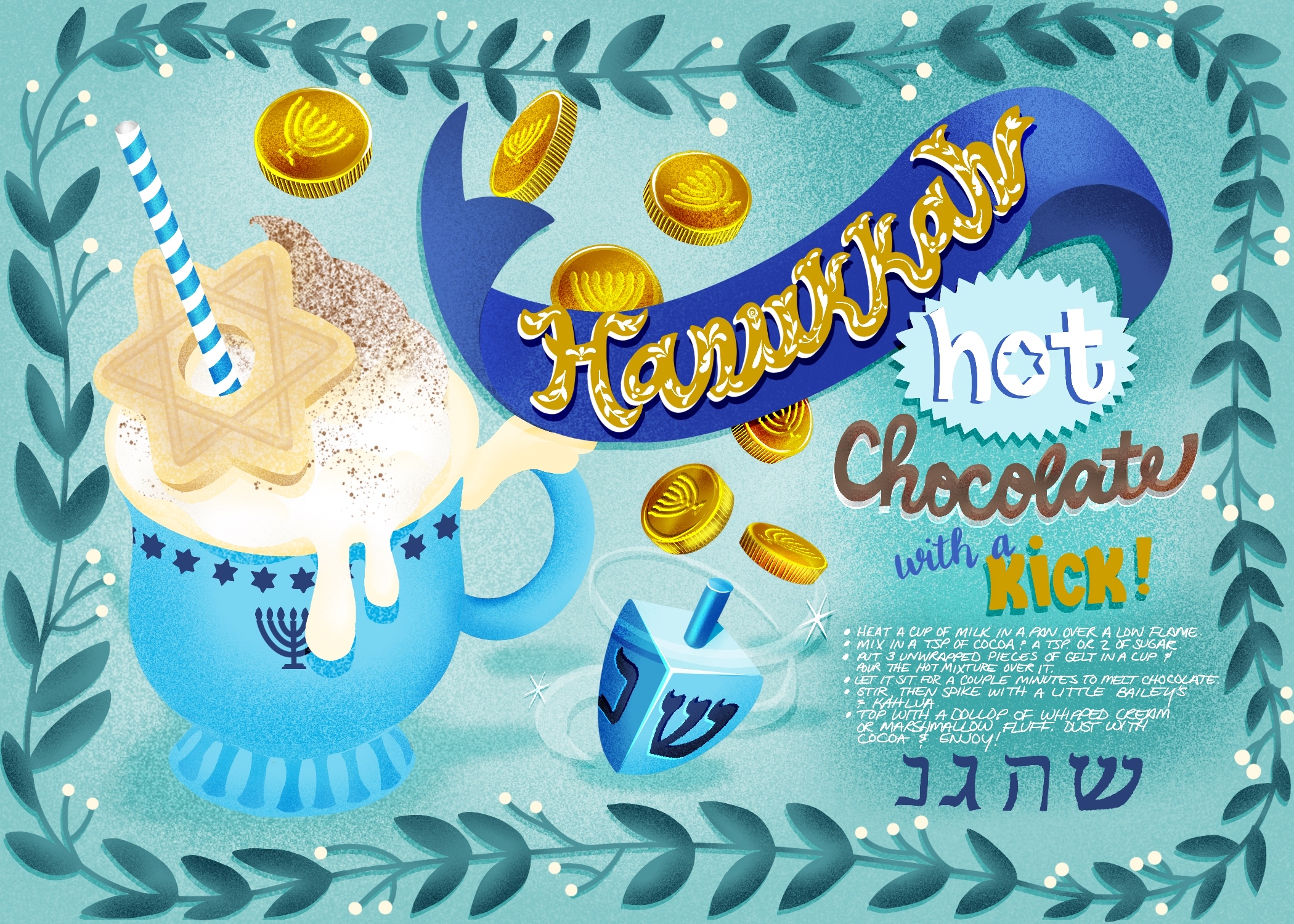 hanukkah hot chocolate