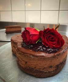 Valentine Triple Choccy NY Baked Cheesecake