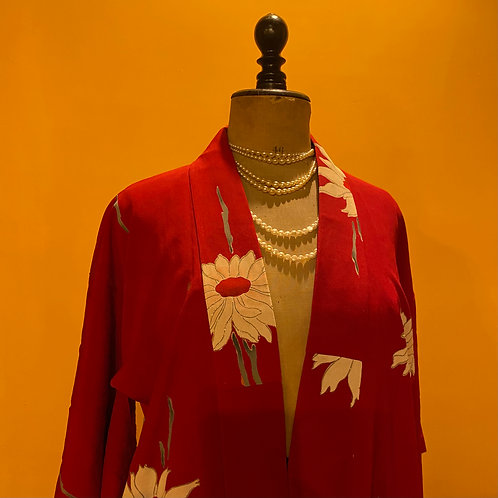 Cardemine red kimono with a sprinkle of gold
